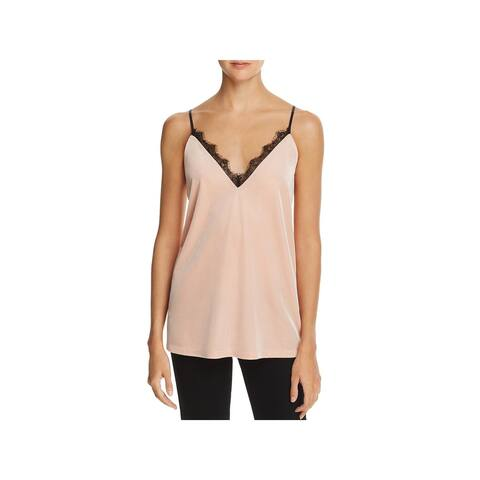 French Connection Womens Cami Velvet Tank Top