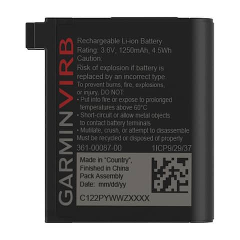 Garmin rechargeable battery for virb ultra 010-12389-15