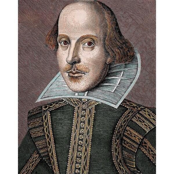 WILLIAM SHAKESPEARE Portrait Painting Historic Art Reprint