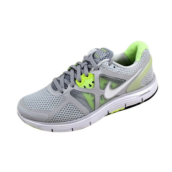 Nike Women's Lunarglide + 3 Breathe Pure Platinum/White-Wolf Grey-Liquid Lime 510802-010