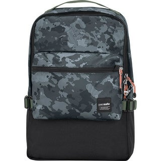 Pacsafe Slingsafe LX350-Grey Camo Anti-theft 2-in-1 Compact Backpack w/ RFIDSafe Pockets & Material