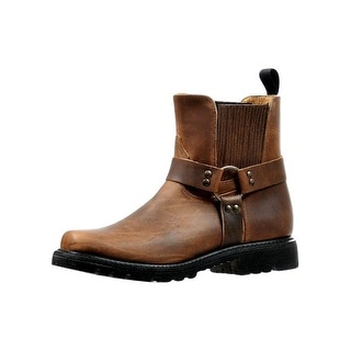 Boulet Motorcycle Boots Mens Broad Square Ring Old Town Vintage 6361