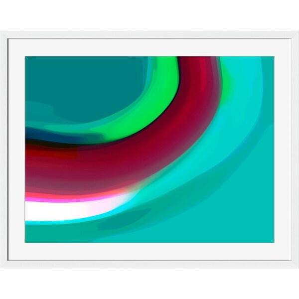 "Green and White Rectangular Wall Art Decor 16"" x 18"" - N/A"