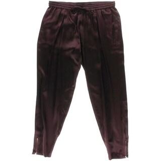 Haute Hippie Womens Silk Pleated Harem Pants
