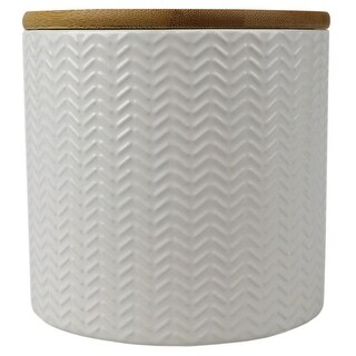 Link to Wave Small Ceramic Canister, White Similar Items in Kitchen Storage