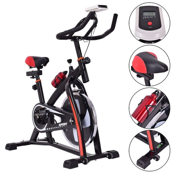 Shop costway exercise bicycle indoor bike cycling cardio