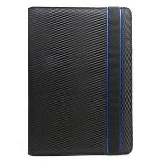 JAVOedge Blue and Black Nylon Fabric Axis 360 Rotating Smart Cover Case with Stand for the Amazon Kindle Fire HD 8.9""