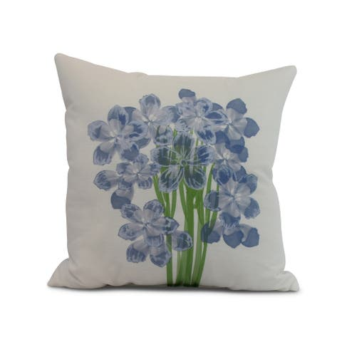 16 x 16 Inch Florpalida Floral Print Outdoor Pillow