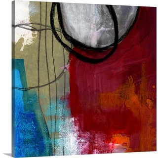 """""""Red And Blue"""" Canvas Wall Art"""