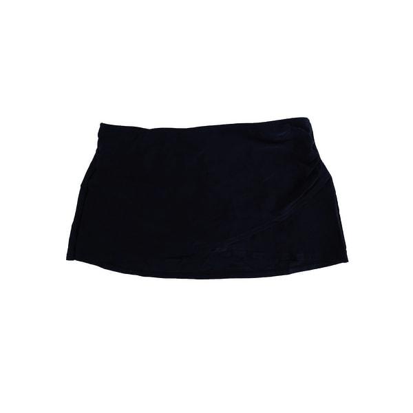 a9c6509448 Shop Island Escape Women's La Palma Crossover Swim Skirt - Black - Free  Shipping On Orders Over $45 - Overstock - 21248085