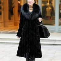 Womens Winter Warm Long Coat Jacket Faux Fur Plus Size Parka Outwear Cardigan