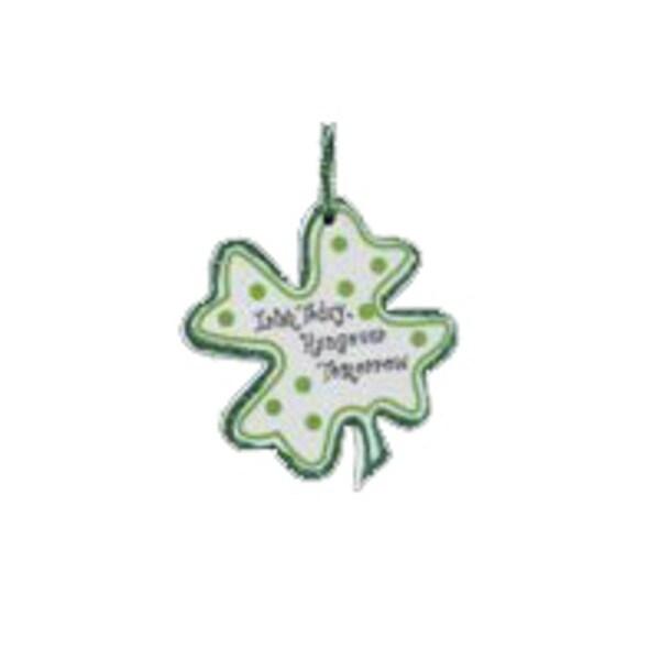 "Luck of the Irish ""Irish Today, Hungover Tomorrow"" Shamrock Christmas Ornament - green"