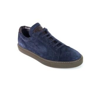 Brunello Cucinelli Men's Blue Kudu Suede Sneakers