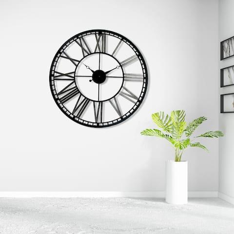 "Walplus Industrial Large Iron Wall Clock 27"" Decoration Decor Wall Art"