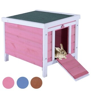 """Lovupet Wooden 17"""" Chicken Coop Rabbit Hutch Bunny Small Animal House Pet Cage 0325"""
