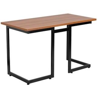Malcom Cherry Home/Office Computer Desk w/Black Frame