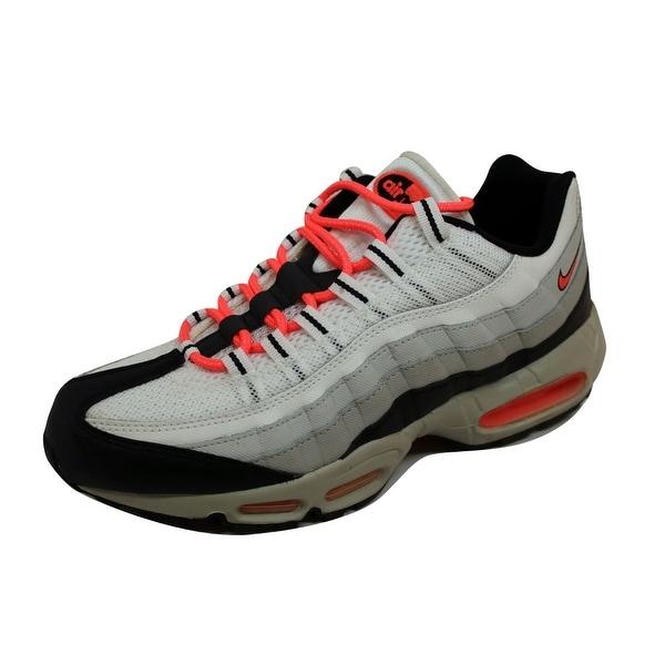 Nike Men's Air Max 95 White/Hot Lava-Black-Granite Rebel Pack 609048-182