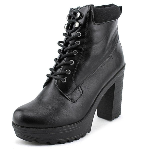 XOXO Jonas Women Round Toe Synthetic Black Ankle Boot