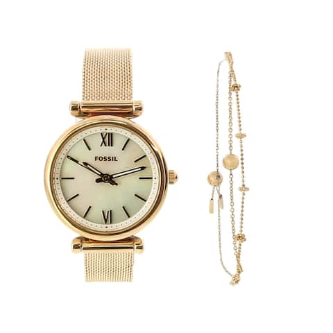 Fossil Women's Carlie ES4443SET Rose-Gold Stainless-Steel Japanese Quartz Dress Watch