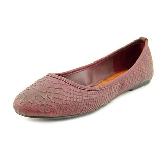 Mia BallerinaX Round Toe Synthetic Flats