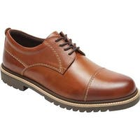 Rockport Men's Marshall Cap Toe Oxford Cognac Leather