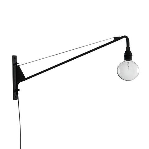 Plug in long swing arm wall sconce