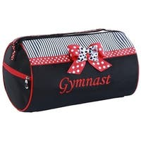 """Sassi Designs Red """"Gymnastic"""" Grosgrain Ribbon Mindy Small Roll Dance Duffel - One size"""