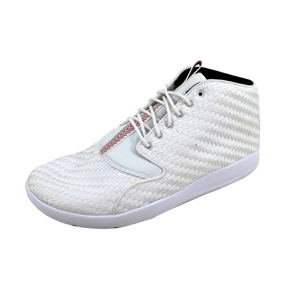 5d49b050524fa2 Shop Nike Men s Air Jordan Eclipse Chukka White Gym Red-Black 881453 ...