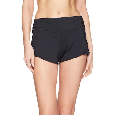 Carve Designs Jet Black Womens Size XL Boy Petal Shorts Swimwear
