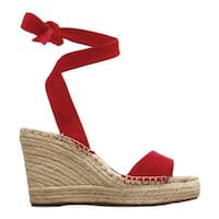 Kenneth Cole New York Women's Odile Espadrille Wedge Red Suede