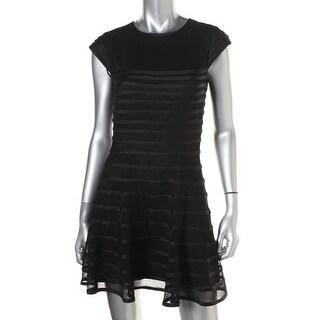 Betsy & Adam Womens Petites Lined Cap Sleeves Clubwear Dress - 12P