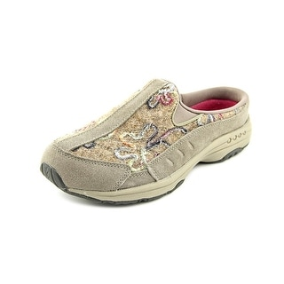 Easy Spirit Traveltime Round Toe Canvas Mules