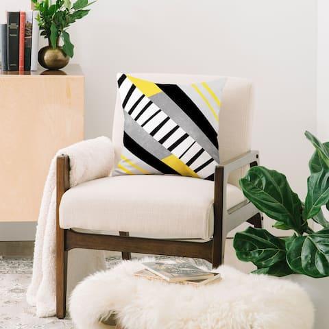 Deny Designs Geometric Combination Indoor/Outdoor Reversible Throw Pillow (4 sizes)