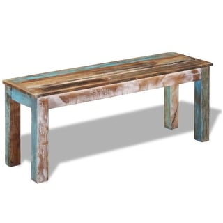 "vidaXL Bench Solid Reclaimed Wood 43.3""x13.8""x17.7"""