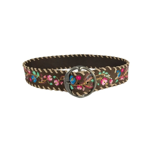 Noble Outfitters Belt Womens Frontier Flower Dark Chocolate