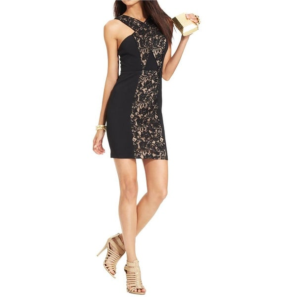 Shop City Studio Womens Juniors Cocktail Dress Lace Inset Sleeveless - Free  Shipping On Orders Over  45 - Overstock.com - 16734882 929acd564