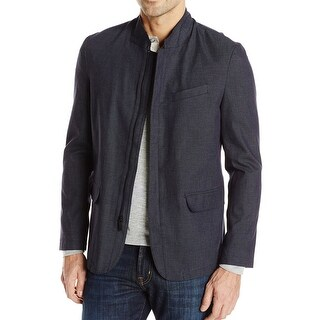 Reaction Kenneth Cole Blue Mens Size 2XL Full-Zip Blazer Jacket