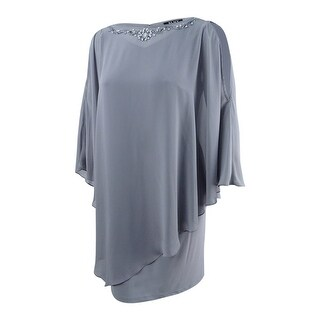 SL Fashions Women's Plus Size Shift Dress - Frost Grey