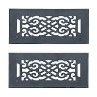 2 Heat Air Grille Cast Victorian Overall 5 1/2 x 12