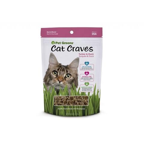 Pet Greens Cat Craves Semi-Moist Treat - Turkey & Duck