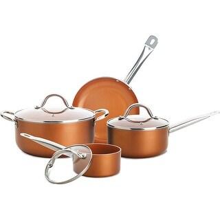 Culinary Edge CE2377 7 Piece Ceramic Titanium Copper Cookware Set