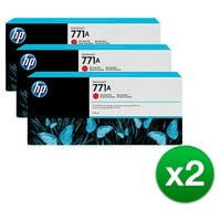 HP 771A 3-Cartridges 775-ml Chromatic Red DesignJet Ink Cartridges (B6Y40A) (2-Pack)