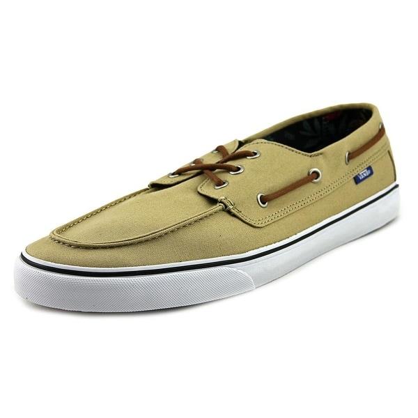 db9fd8652fe Shop Vans Chauffeur SF Men Moc Toe Canvas Tan Boat Shoe - Free ...