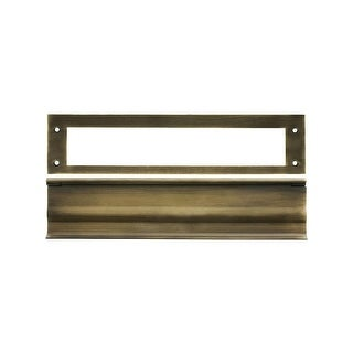 "Deltana MS0030 13"" x 3-1/6"" Solid Brass Heavy Duty Mail Slot"