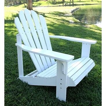 Shine Co 4611WT 28.25 X 35 X 36 Inch Westport Adirondack Chair   Standard    White