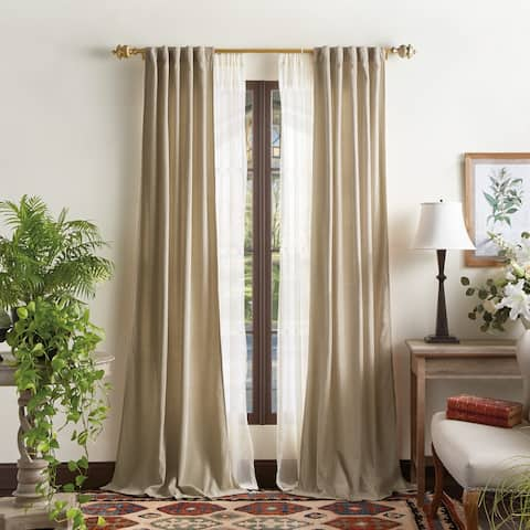 Martha Stewart Naples Chenille Solid Curtains - Panel Pair or Valance