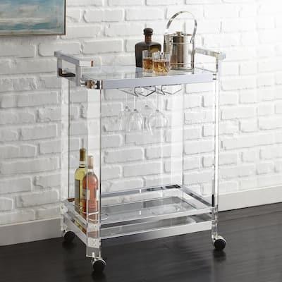Alba Acrylic Serving Bar Cart by Greyson Living