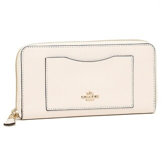 Coach Crossgrain Leather Accordion Zip Wallet F54007, Chalk