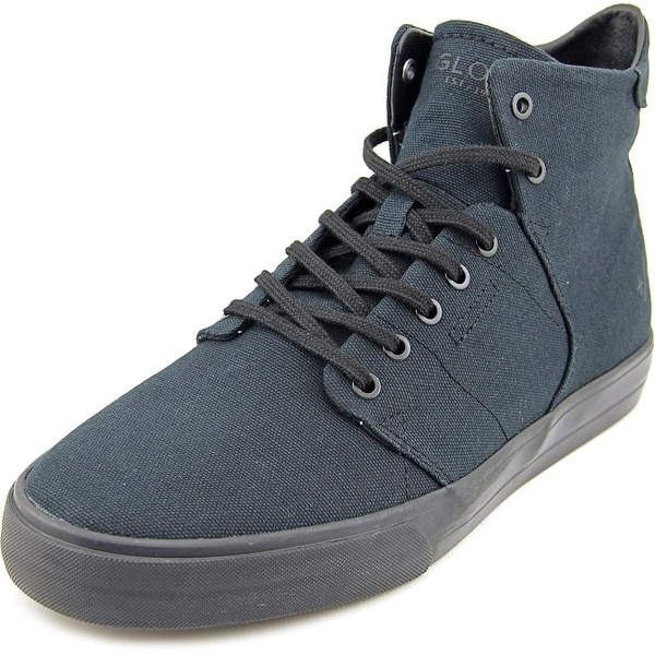 Globe Los Angered TX Men Round Toe Canvas Black Skate Shoe