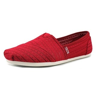 Skechers Bobs Plush-Urban Rose Women Round Toe Synthetic Red Flats